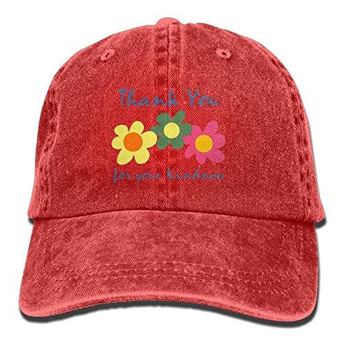 JIEKEIO Funny Baseball Caps Hats Boy's Womens Topee,Rose Denim Fabric Hat for Male Female Unisex -