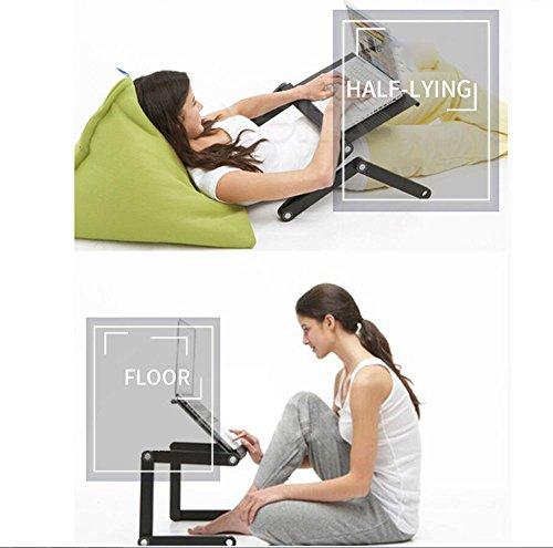 Nwn Table Pliante en Aluminium d'ordinateur Portable, Taille Se Pliante portative de PC de Table et d'angle (Couleur : A)