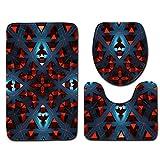 Stuoie del Bagno di Moda, Set di 3 Tappetino da Bagno Tridimensionale Set Tappetino da Bagno cubo + Tappetino da Bagno + Set Tappetino a Forma di U.