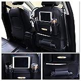 Auto Organisator Surenhap Auto Rücksitz Organizer Auto-Rückenlehnenschutz mit 8 Fächern, mit Tissueboxen&iPad,usw-Halterung für Rücksitz, Mach Ihr Auto aufgeräumter(Schwarz)