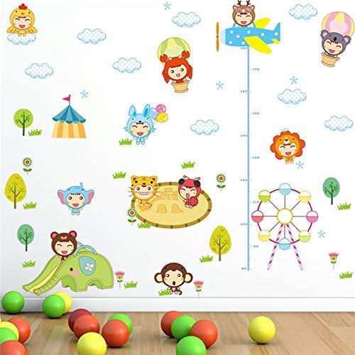 Dokfh Cartoon Tier Puppe Wandaufkleber Für Kinder Kindergarten Kinder Höhe Maßtabelle Home Decor Wandkunst Pvc Aufkleber Girl'S