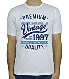 1997 Vintage Year - Aged to Perfection - 21. Geburtstag Geschenk T-Shirt für Herren Weiß Blau L