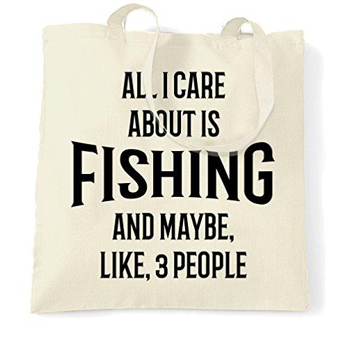 Pesca Sacchetto Di Tote Tutto quello che interessa è la pesca e come 3 persone divertente raffreddano Natural