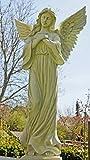 Riesiger Outdoor Engel, Grabengel wunderschöner Schutzengel, Marmoroptik