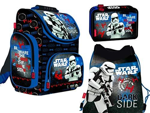 3-teiliges Schulranzenset Star Wars Schulranzen, 2-fache gefüllte...