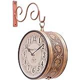 Vintage Clock Handicraft Double-Side Iron Clock