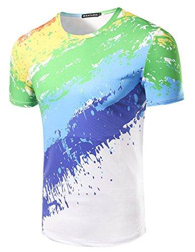 ycheng-moda-camisetas-para-hombre-manga-corta-pintura-de-acuarela-arco-iris-rayas-t-shirt