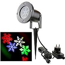 Bloomwin Proiettore Luce di Fiocco di Neve Spotlight di Paesaggio Lampada LED per la Festa Natale o Il Matrimonio o la Decorazione di Party Luce Multicolore per il Giardino
