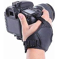 oser PU Leather Soft Camera Hand Grip/Wrist Strap for Canon Nikon Sony SLR DSLR (Black)