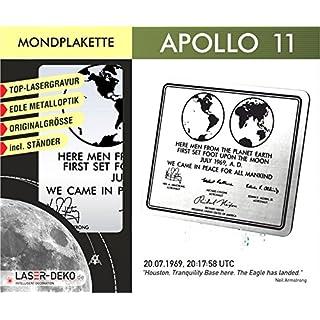 Apollo 11 - Gedenkplakette: Gedenkplakette in Originalgröße