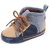 Tefamore Zapatos Botas de Bebe de Suave Zapatilla de Primeros caminantes Invierno Otoño (Tamaño:1, Caqui)