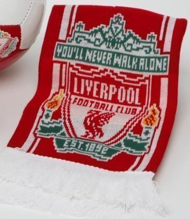 Sciarpa est 1892 Liverpool F.C Jacquard