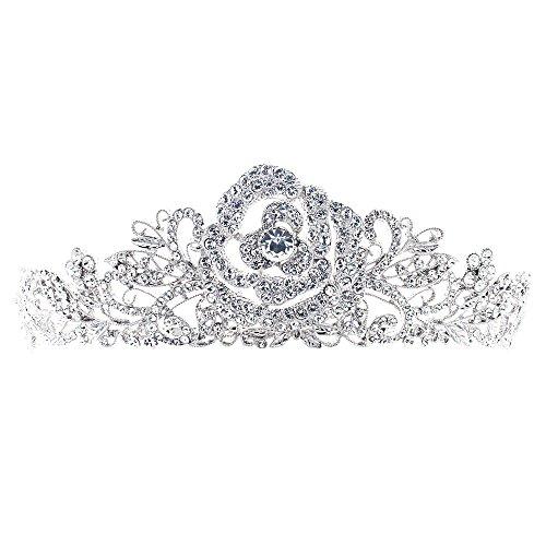SEPBRIDALS echten österreichischen Kristallen Strass Rose Tiara Krone für Hochzeit Briade Haar Zubehör jha7721 (Tiara-haar-zubehör)