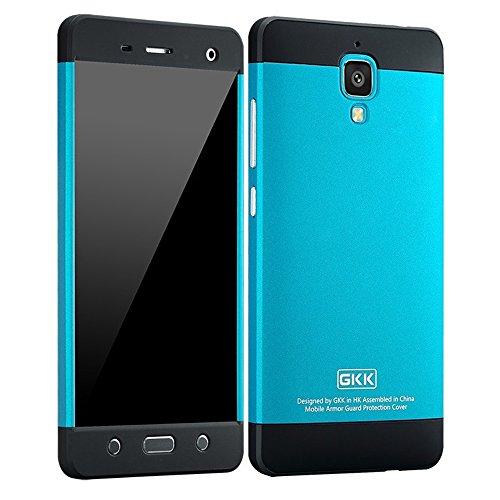 Heartly GKK Double Dip Flip Hard Shell Premium Bumper Back Case Cover For Xiaomi Miui Mi 4 Mi4 - Black Blue Black