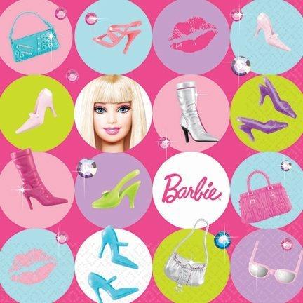 Preisvergleich Produktbild Amscan 160094 Barbie Puppe d All Up Lunch-Servietten-16 St-ck