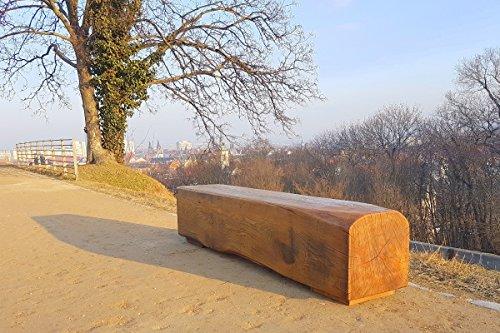 Panorama-Sitzbank, Gartenbank Holz, Holzbank puristische Gartenbank, Holzbank aus exquisitem...
