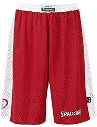 Spalding Essential Short rversible de basketball homme Violet FR : XXL (Taille Fabricant : XXL)