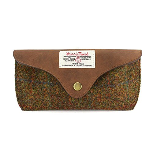 Harris Tweed Olive & Tan Tartan Brillenetui