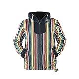 virblatt - Baja Hoodie Herren und Hippie Jacke Alternative Kleidung - Maastricht S