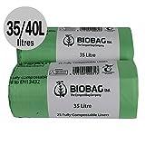 All-Green - Sacchi biodegradabili da 35/40 litri, 50 pz, per cucina/umido, EN 13432, guida al compostaggio inclusa