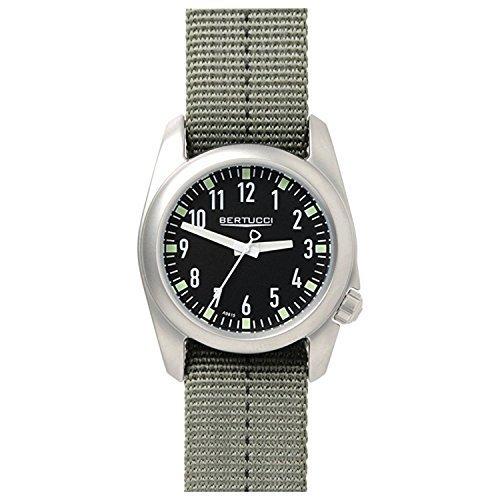Bertucci 11073Green nylon Band 40mm in acciaio INOX Ventara orologio da uomo