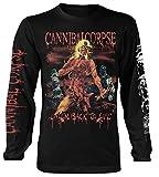 Plastic Head Cannibal Corpse 'Eaten Back to Life' Long Sleeve Shirt Black
