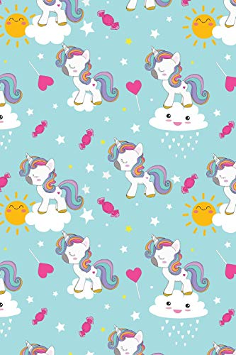 Journal: Kawaii unicorns | 150 Wide Ruled Pages  | 6 x 9 size | Writing notebook (Girls, Band 1)