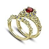 Multi-color Vorra de 14 K, 925 Chapado en oro De...