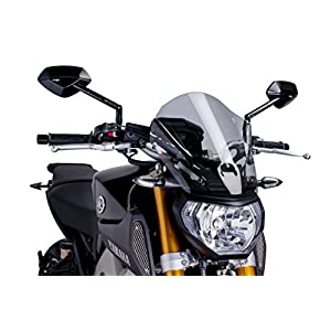 Puig 6861H Windshield for Yamaha MT-09 2013-2014, Smoke, Medium