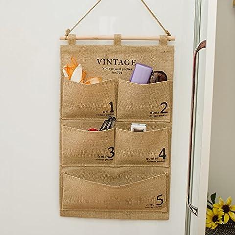 Hoobor House Admission-Bag il sacchetto multistrato di biancheria in cotone i detriti che Door-To-parete detriti organizzare sacchetto custodia,biancheria,grande