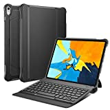 OMOTON Custodia con Tastiera Bluetooth Compatibile con iPad PRO 11 - Tastiera Wireless Rimovibile per iPad PRO 11 - Layout Italiano - Ultra-Sottile e Leggera - Nero