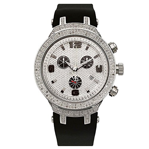 Joe Rodeo Diamant Homme Montre - MASTER argent 2.2 ctw