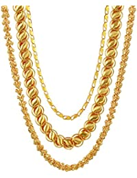 Charms Gold Plated Chain for Men (Golden) (CH-032-031-038)