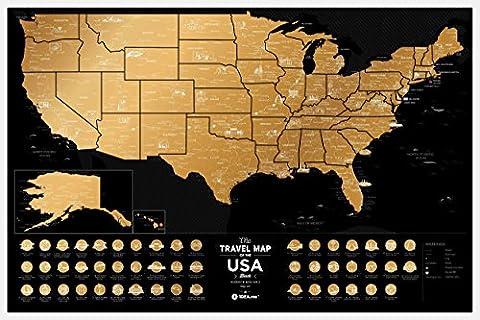 Premium Scratch Off USA Poster - 60 x 40 cm