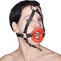 Weiches Fetisch Silikon Lippen Geschirr mit rotem Mund