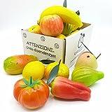 Fruchte aus Marzipan erstklassiger (mandel mind. 33%) bekannt die in Sizilien als Fruchte aus Martorana in schoner Geschenkbox (250gr). Handgefertigt und dekoriert eins nach dem anderen vom alten sizilianischen Konditorei. RAREZZE: handwerks tradition mit leidenschaft aus Sizilien