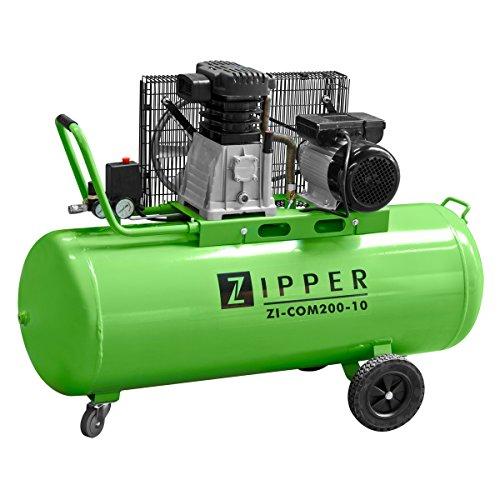 Zipper - Compresseur d'atelier 200 litres 230 V 2200 W - ZI-COM200-10 - Zipper