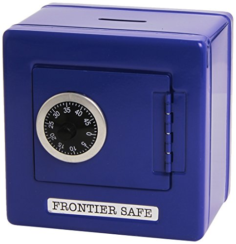 Goki 14020 – Metalltresor als Spardose mit Kombinationsschloss, blau