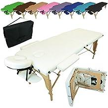 Linxor ® Mesa de masaje plegable 2 zonas de madera con panel de Reiki + accesorios y bolsa de transporte - Nueve colores - Norma CE