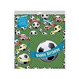 2 Blätter von Fußball Geburtstag Geschenkverpackung Geschenkpapier, Karte & 2 Geschenketiketten