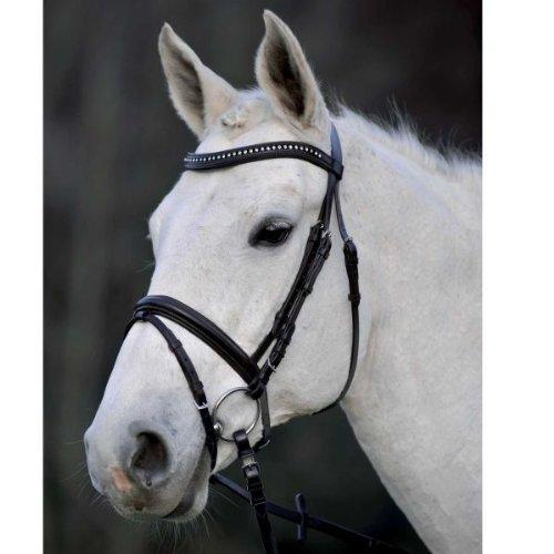 Waldhausen Trensenzaum Silverstar ENGL.Komb, schwarz, Pony, schwarz, Pony