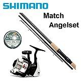 Shimano Match Combo 3,90m / 5-15g + Angelrolle + Monoschnur Komplettset