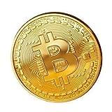 Physische Bitcoin Münze Gold aus Kupfer