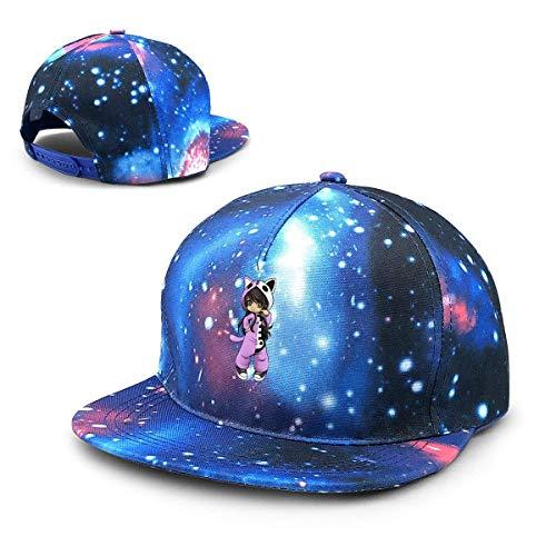 Rogerds Baseball Kappe für Herren/Damen,Sternenhimmel Mütze,Hüte Aphmau Gaming Starry Sky Hat Baseball Cap Sports Cap Adult Trucker Hat Mesh Cap
