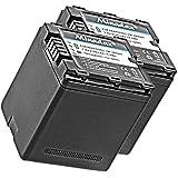 2x Minadax® qualitaets Batterie avec véritable 2100mAh pour Panasonic HDC SD800SD900SD909tm900HC x929X810X909X900X800, comme VW vbn260–Système de batterie intelligent avec puce