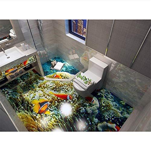 Qqasd Ocean World 3D Bodenbeläge Tapeten Für Wohnzimmer 3D Bodenfliesen Selbstklebende Tapete Anpassen der Startseite Aufkleber-270X200CM (Anpassen Startseite)