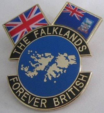 Die Falkland-der Falklandinseln und Union Jack Flagge Forever britischen Anstecknadel