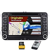 2 Din Bluetooth 7 pouces Full Autoradio ?¡ì|cran tactile GPS Sat Navi voiture Lecteur DVD Vid?¡ì|o FM Support AM pour VW Golf Volkswagen Passat Touran Seat Skoda Dash Navigation lecteur CD USB / SD AUX Canbus Headunit