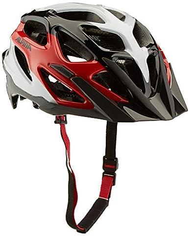 ALPINA Mythos 3.0 Fahrradhelm, Black-White-Red, 57-62