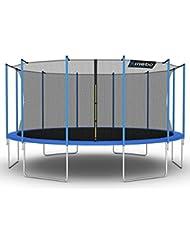 Kinetic Sports Trampoline de jardin avec filet de sécurité, mesures disponible en différentes dimensions